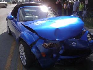Kollision und Autoschaden