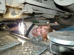 Auto zur Reparatur in der Werkstatt
